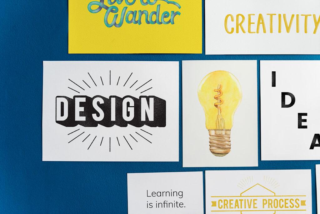 creative-postcard-set-blue-wall